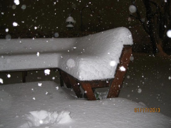 Jan17_10.5 inches in downtown Sparta in Alleghany. Photo_Carolynn Choate