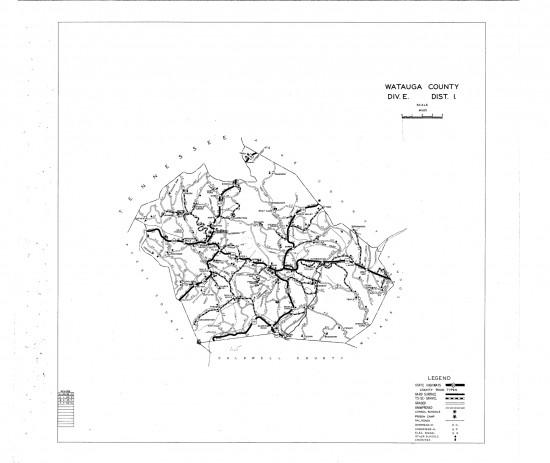 1936 maps Watauga