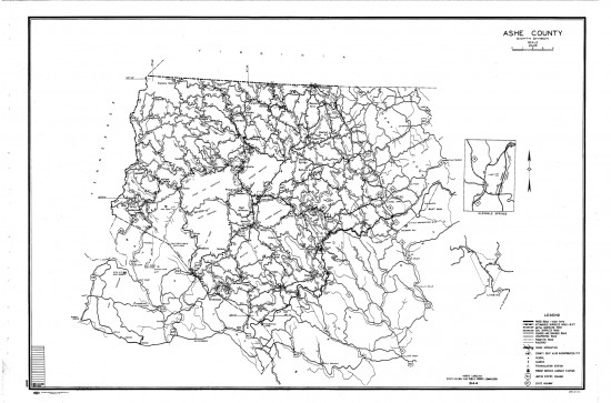 1944 maps Ashe