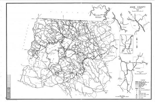 1949 maps Ashe