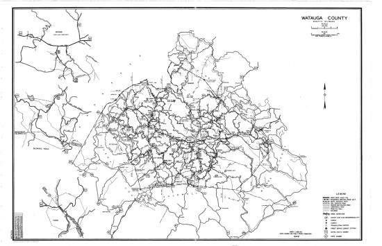 1949 maps Watauga