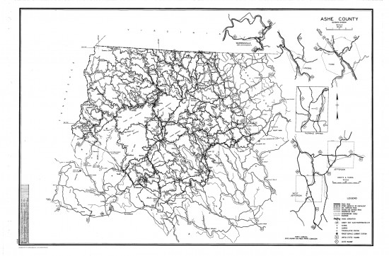1953 maps Ashe