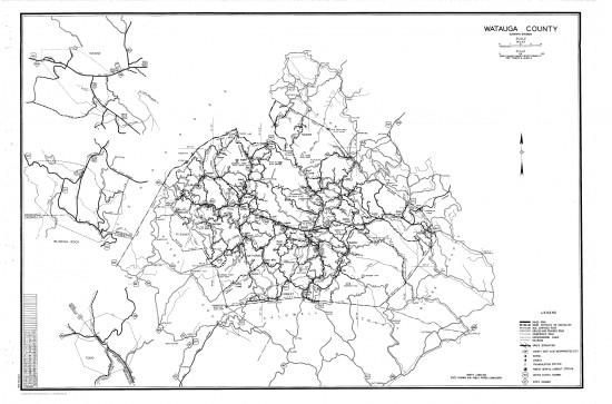 1953 maps Watauga