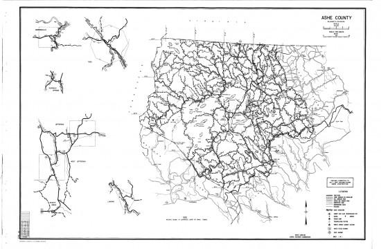 1957 maps Ashe