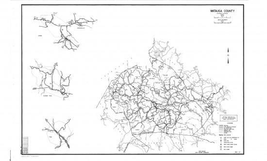 1957 maps Watauga