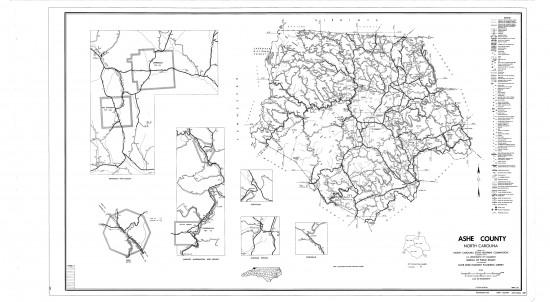 1962 maps Ashe