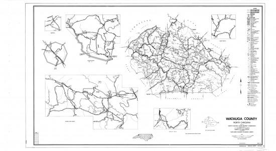 1962 maps Watauga