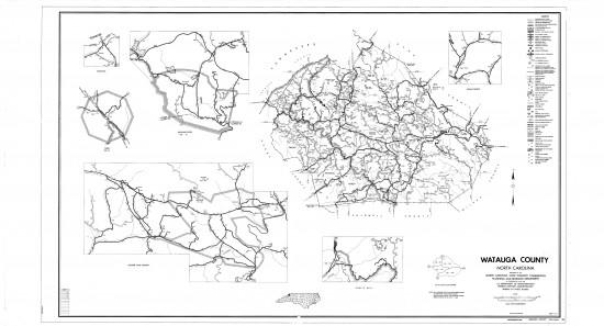 1968 maps Watauga