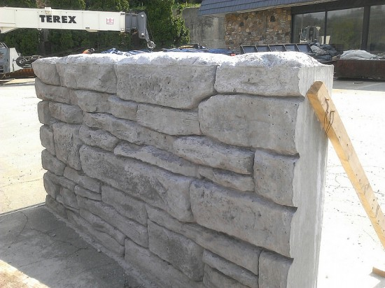 Proposed aesthetic wall treatment, including top of wall treatment, for various retaining walls on U.S. 321 in Blowing Rock. Photo:NCDOT
