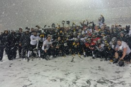 App State Football Team Embraces Winter Weather During Practice