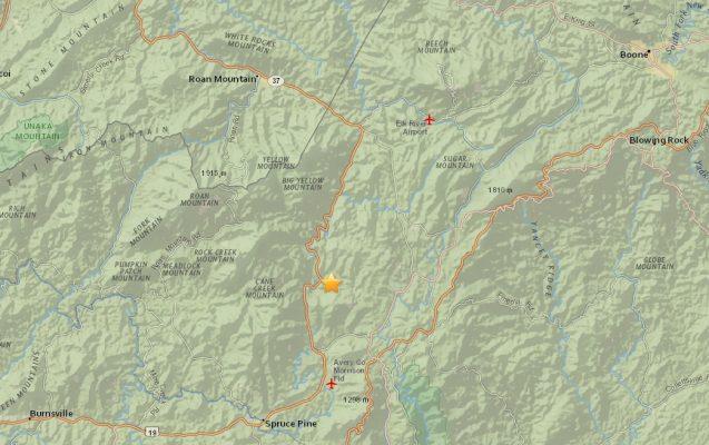 Thurs July 21 2016 earthquake map