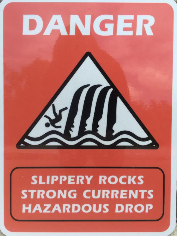 slippery rock sign_forest service