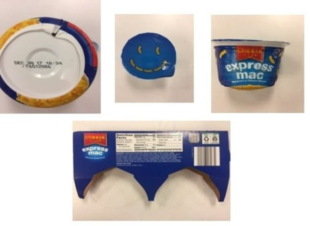 Macaroni And Cheese Cup Products Recall