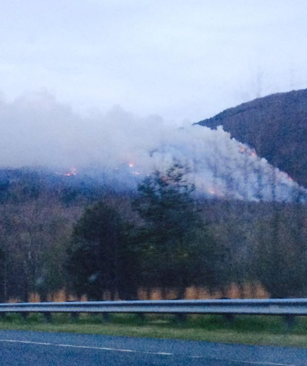Dobson Knob Fire 200 Acres 0% Contained, Smoke Visible In High Country