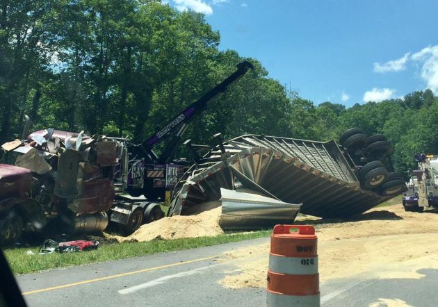 Tractor Trailer Accident On 421 Leaves Driver Critically Injured