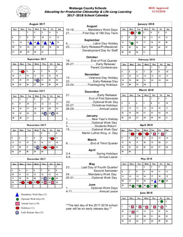 Watauga County Schools 2016-17 Last Day Thursday, Motorists Advised Allow Extra Travel Time