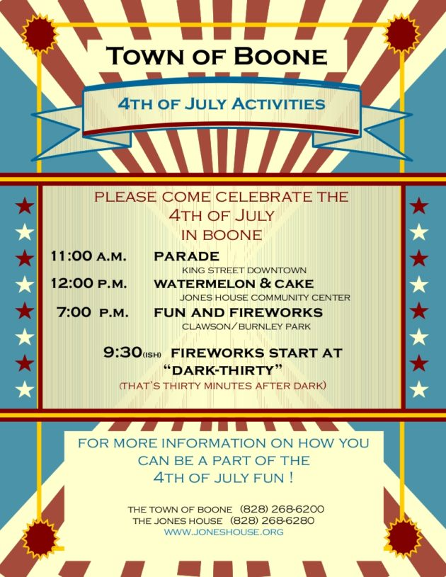 Boone July 4, 2017 Fourth Of July Parade & Events