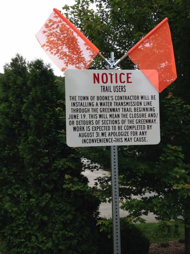 Greenway Trail Closure & Detours Of Sections Underway