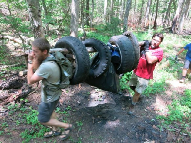 Volunteers Remove Nearly 150 Tires From Linville Gorge Wilderness