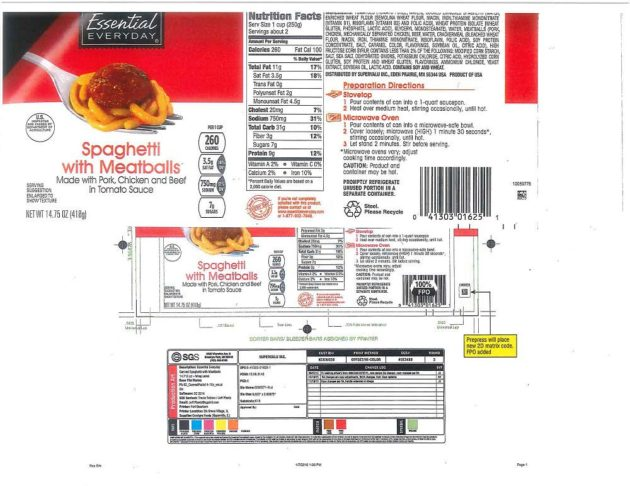 Spaghetti & Meatball Products Recalled Due To Misbranding & Undeclared Allergens, Health Risk: High