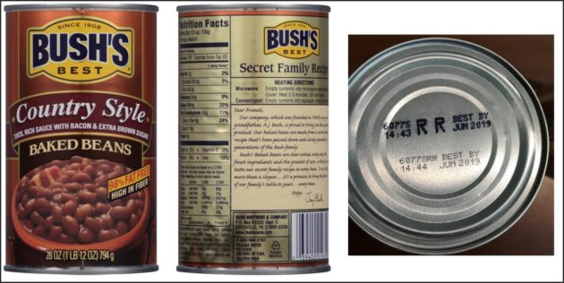 Bush Beans Announce Recall Due To Possible Defective Side Seams