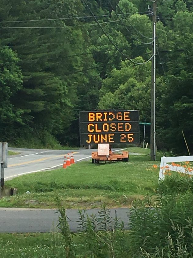 Bairds Creek Road On 105 Side To Be Closed For Bridge Replacement, Project Begins Monday