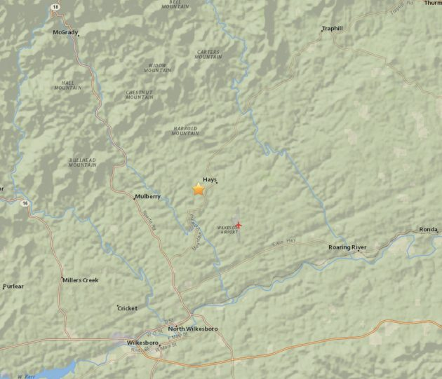 Two Earthquakes Measured In Wilkes County Sunday Night