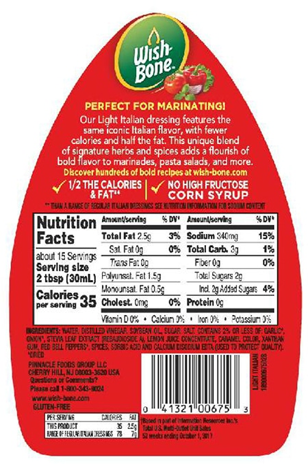 Recall: Wish Bone Salad Dressing, Undeclared Milk and Egg in 15 oz