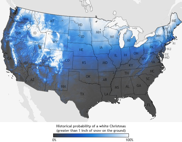 Historical High Country White Christmas Data
