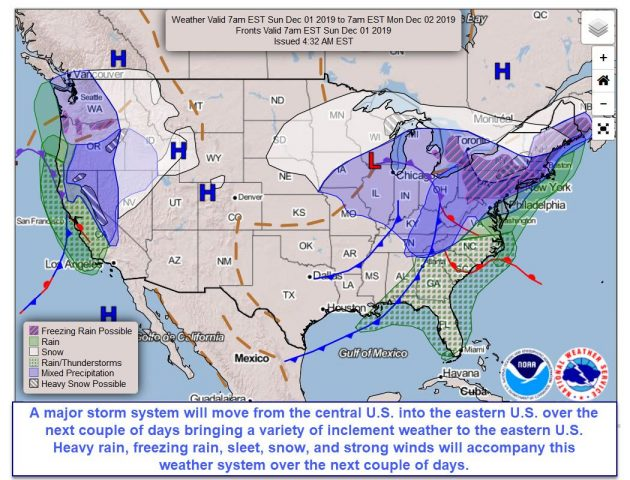 Rain & Colder Conditions For Rest Of Weekend, Snow Likely To Start Next Week