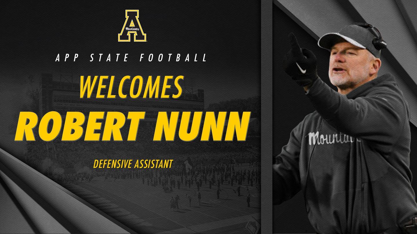 App State Hires Longtime NFL Assistant Nunn to Coaching Staff