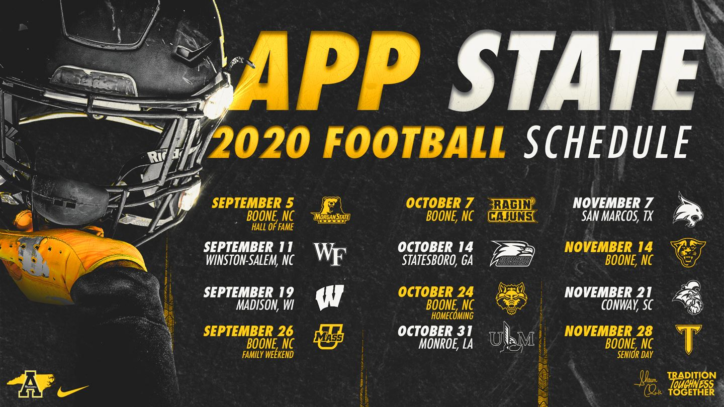 2020 App State Football Schedule Announced