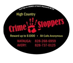 Photo of 11 Town of Boone street signs missing, Crime Stoppers seeks information