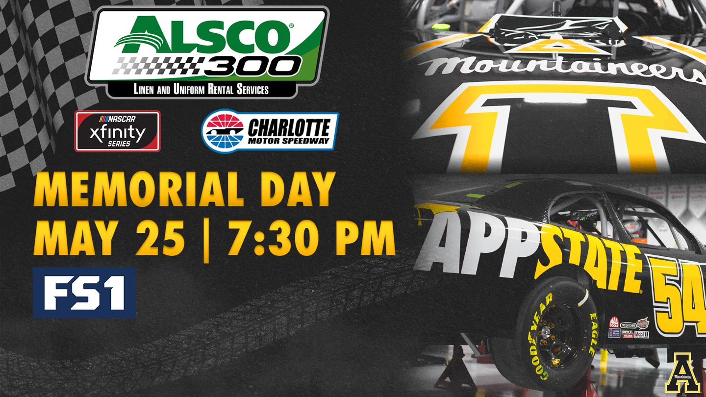 App State Car to Race in Monday's Alsco 300 at Charlotte Motor Speedway