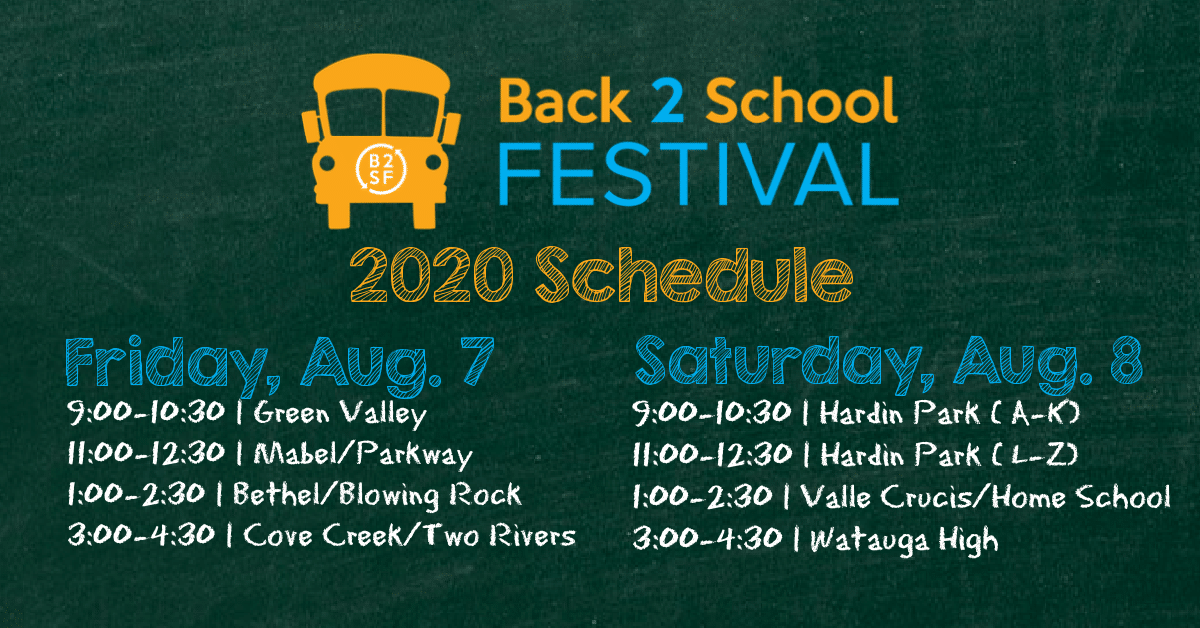 Back 2 School Festival Announces Plans for Drive-Thru Event