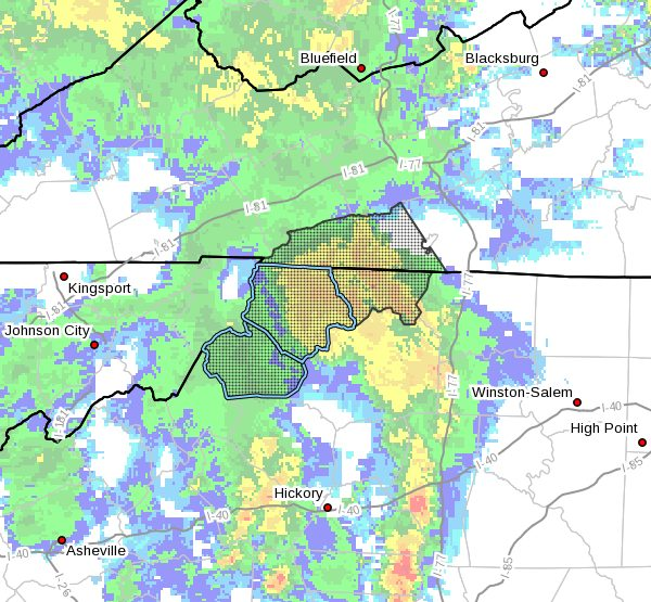 Flash Flood Watch for Watauga, Ashe - Monday August 31, 2020