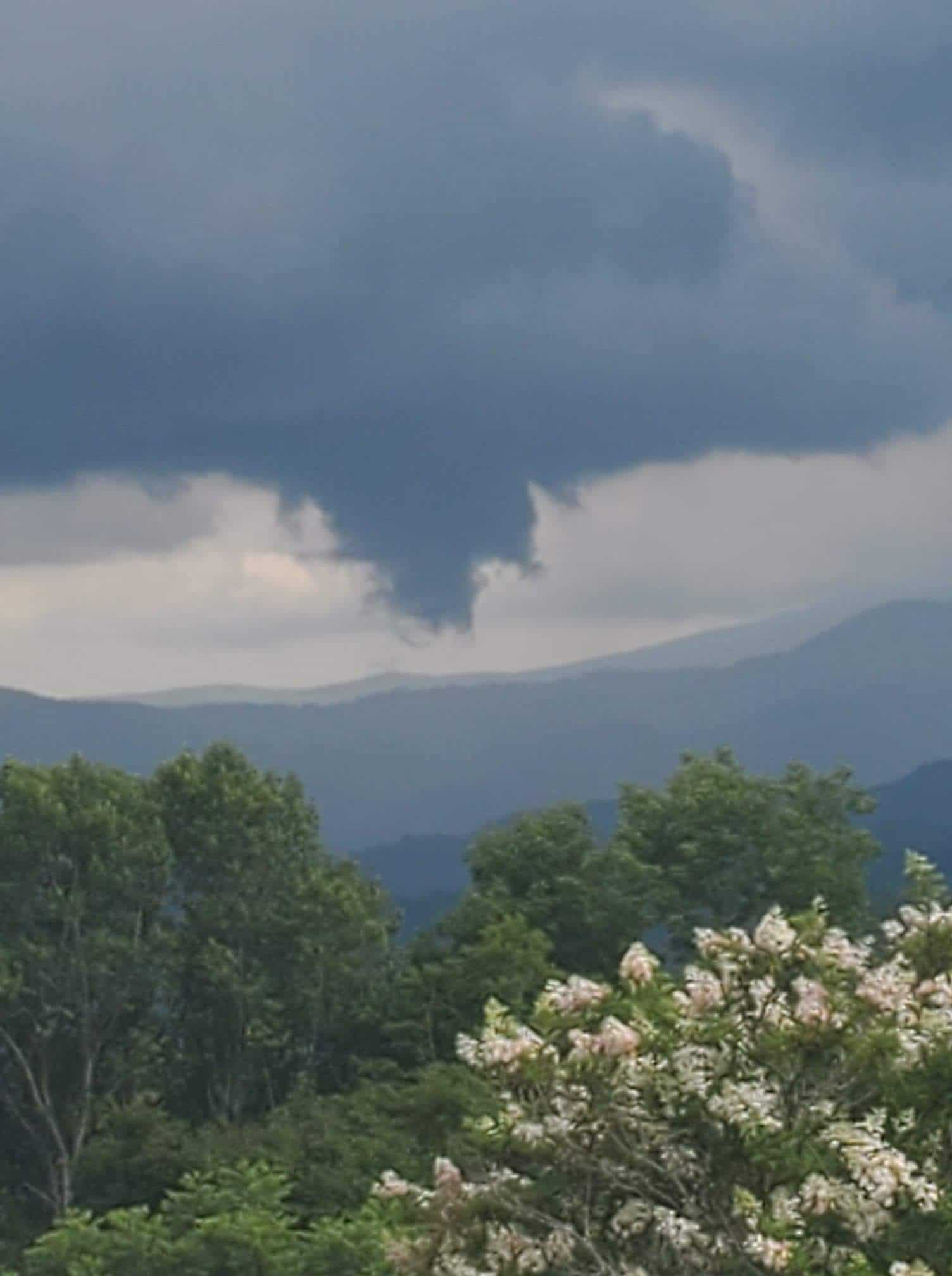 Condensation funnel caught on video on Thursday