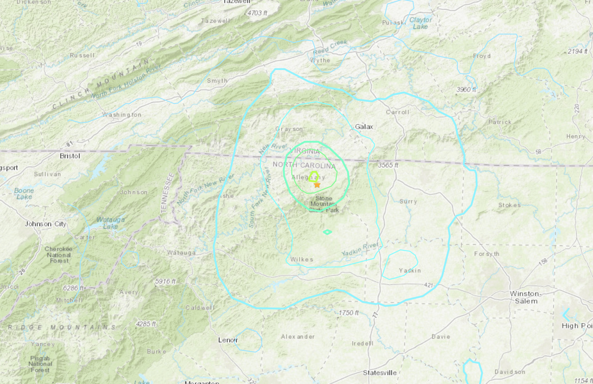 5.1 magnitude Earthquake recorded near Sparta on Sunday morning, felt across High Country