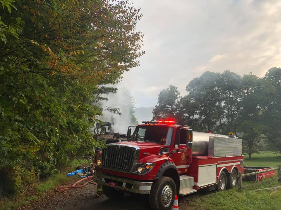 Monday morning fire destroys home in Triplett community