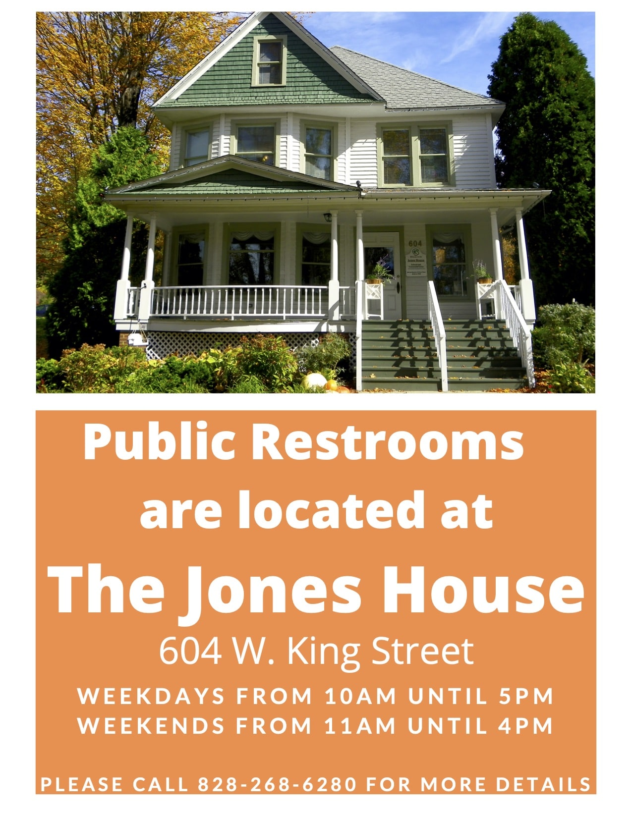 Town of Boone Opens Jones House for Downtown Public Restrooms
