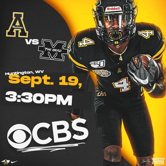 App State-Marshall Game Elevated to 3:30 p.m. on CBS