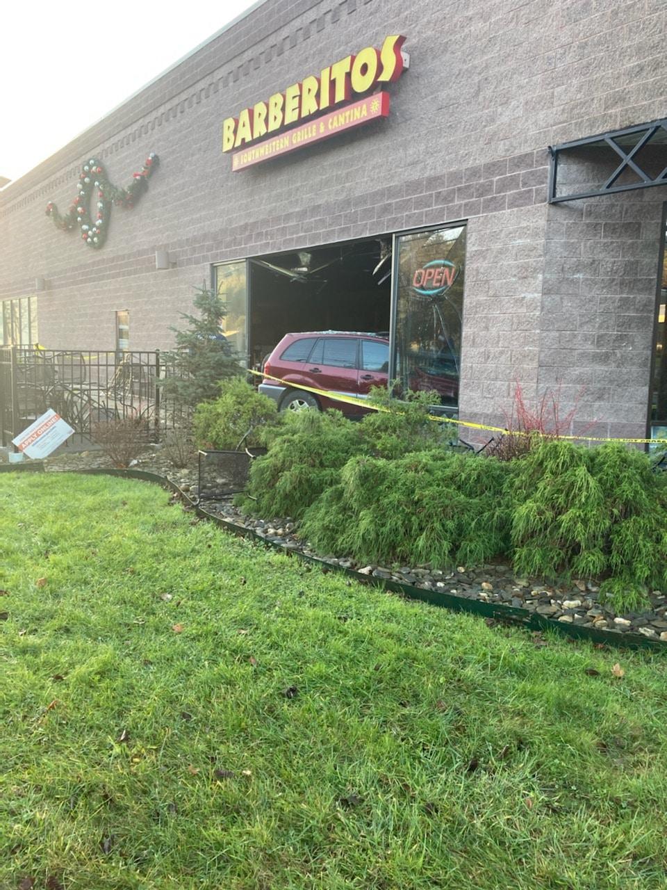 Vehicle crashes into Barberitos early Friday morning
