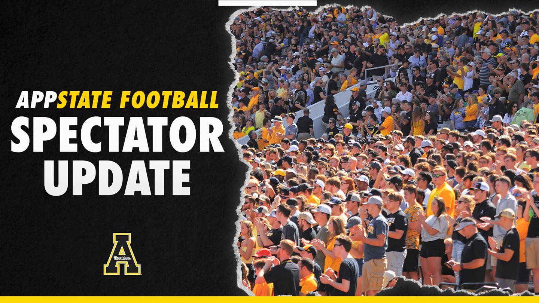 App State Football Spectator Update for Nov. 14 Georgia State Game