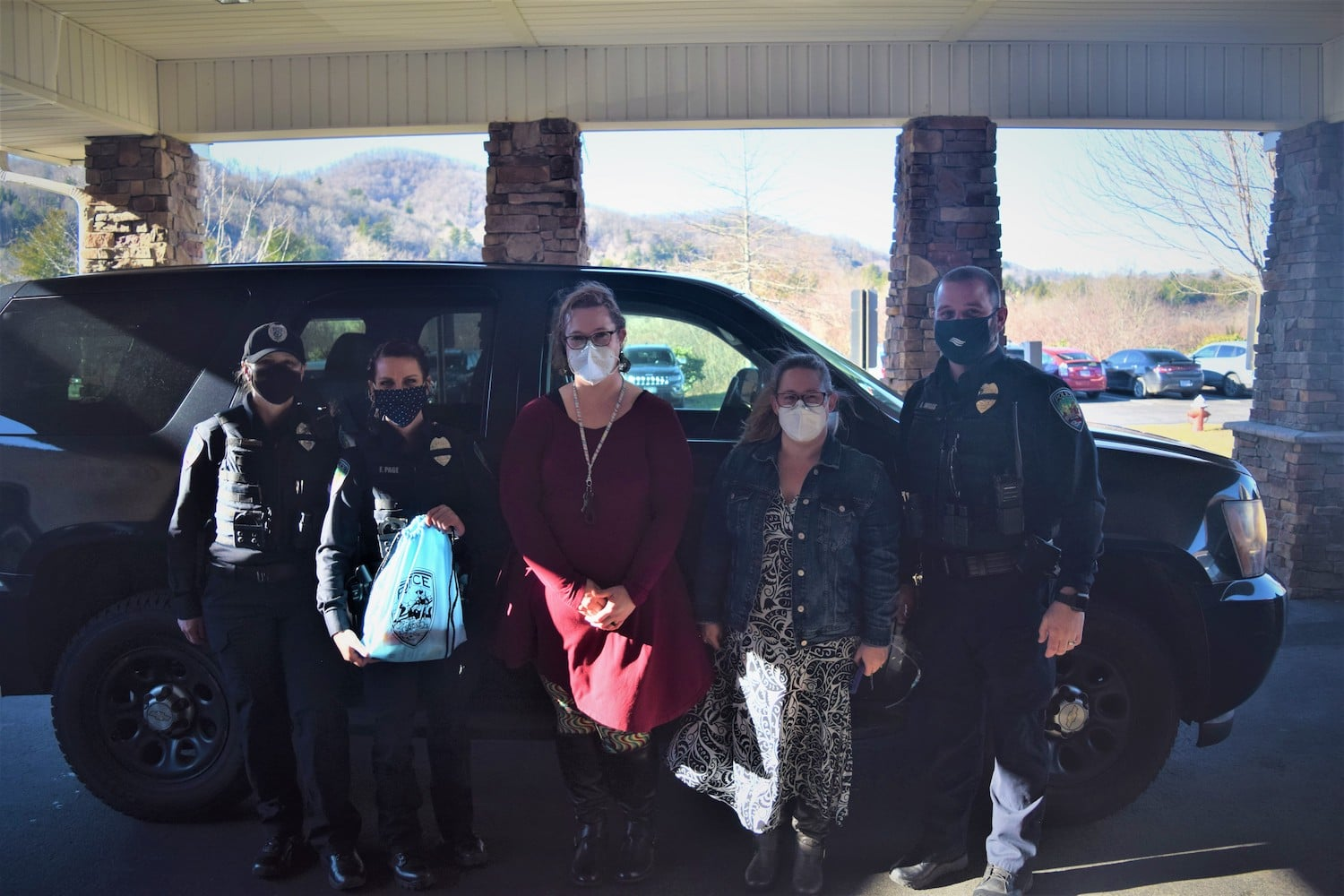 Boone Police deliver blankets & care packages to local retirement and assisted living facilities
