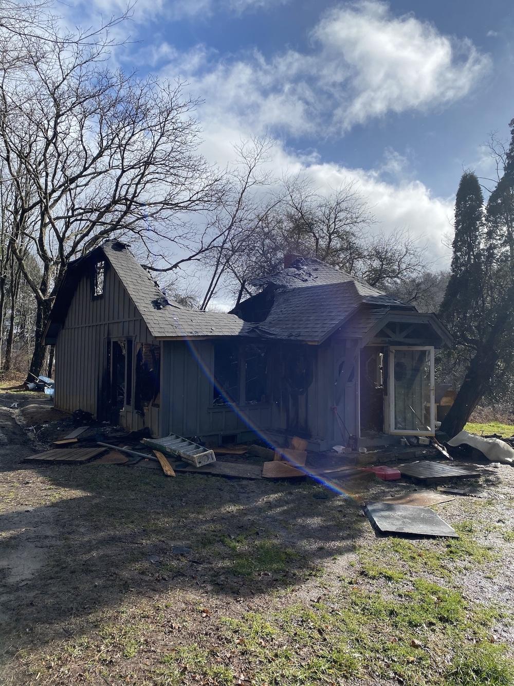 Fire destroys Hardin Road home on Friday night