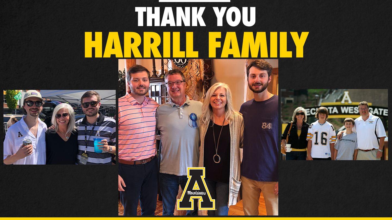 Harrills Commit $1 Million toward App State Basketball Practice Facility