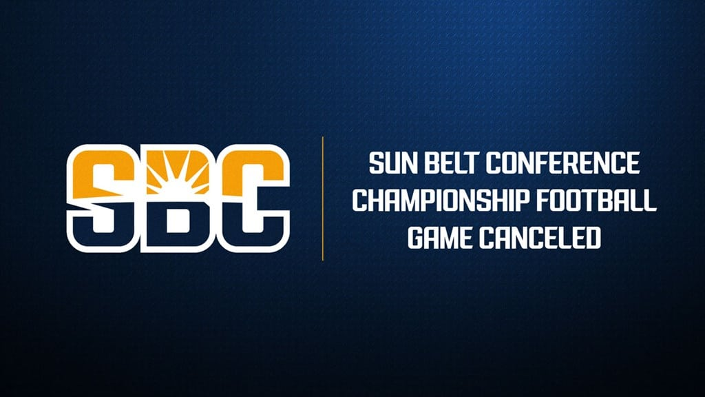 Sun Belt Conference Championship Football Game Canceled