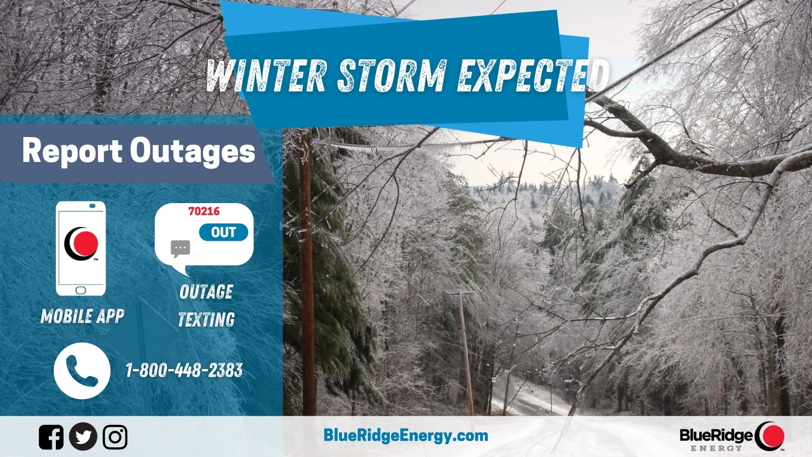 Blue Ridge Energy Ready to Respond if Severe Weather Causes Outages