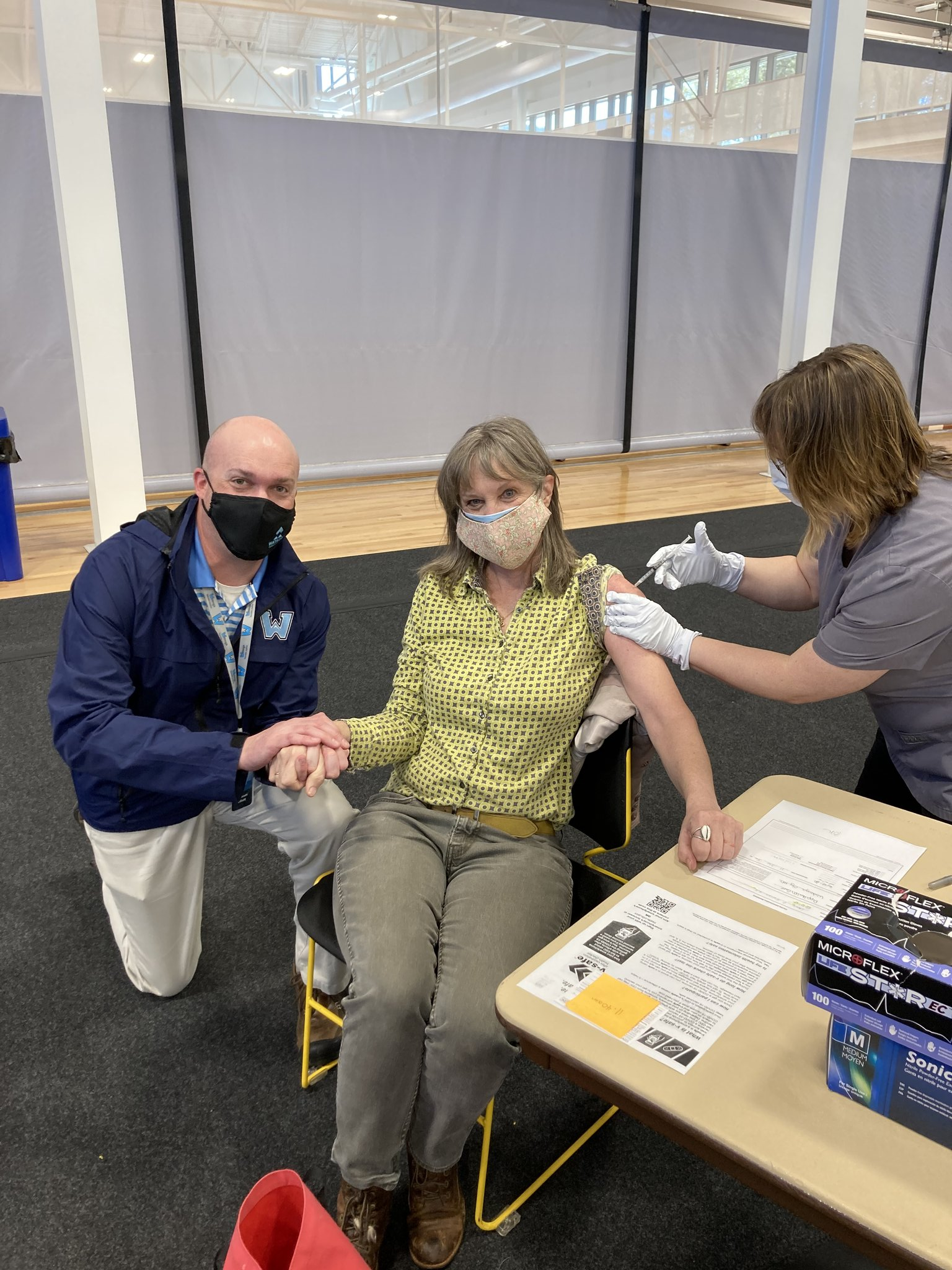 Watauga County Schools staff receive their first COVID-19 vaccine
