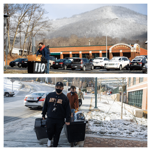 Students return to App State's residence halls for spring 2021